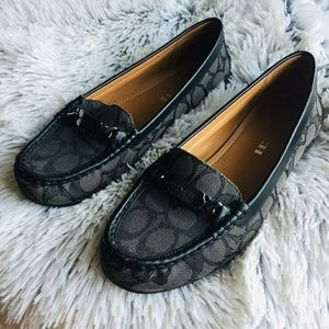 💚COACH Signature Logo  loafers